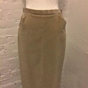 Max Mara Corduroy Pencil Skirt Tan size 8 42